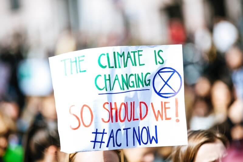 Cartel de lucha contra el cambio climático
